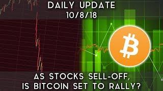 Daily Update (10/08/18) | As stocks sell-off, is bitcoin set for a breakout?
