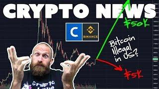 Bitcoin to $5K or $50K | Coinbase Hedge Fund | Binance Stock Exchange | $ADA $NXPS $VEN
