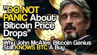 """DO NOT PANIC About Bitcoin Price Drops"" - Why John McAfee, Bitcoin Genius Still KNOWS BTC A Buy"
