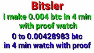 0.004 bitcoin in 4 min with no risk bitsler high amount trick working in bitsler low balance trick