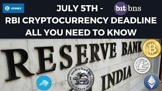 July 5th RBI CryptoCurrency Deadline - All You Need To Know