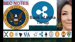 SEC publishes NOTES, Bank of India considering RIPPLE tie-up, CoinMarketCap New Features