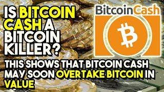 IS BITCOIN CASH A Bitcoin KILLER? - THIS Shows That Bitcoin Cash MAY Soon Overtake Bitcoin In Value