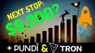 New Bitcoin Price Target $9,200! + PundiX and Tron Price Prediction - Technical Analysis