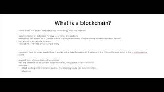 Cryptocurrency Videos is a 101 Series What is a Blockchain Video #3