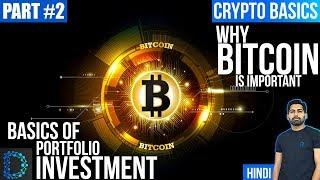Why make 50% of Portfolio Investment in Bitcoin Only - Part 2- Basics For Buying & Investing-[Hindi]