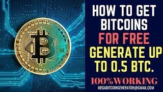 How to Get Bitcoins For Free Up to 0.5 BTC