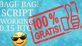 AUTO KAYA DENGAN  BITCOIN 0.15 BTC / 10 JUTA DALAM WAKTU 20 MENIT || BITSLER SCRIPT WORK! PROOF!!