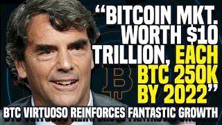 """Bitcoin Mkt. WORTH $10 TRILLION, Each BTC 250K By 2022"" - BTC VIRTUOSO Reinforces Fantastic Growth"