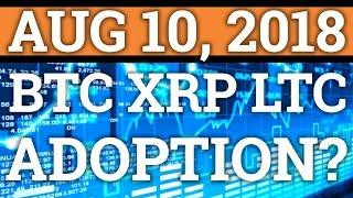 BITCOIN BTC, RIPPLE XRP, LITECOIN LTC MASS ADOPTION? | CRYPTOCURRENCY PRICE + NEWS 2018
