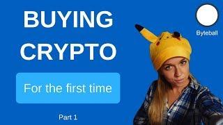Buying cryptocurrency on her own for the first time (2018)