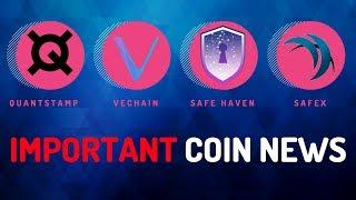 Big Moves from Quantstamp, Safe Haven, Safex and VeChain - Today's Crypto News