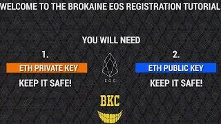How to register EOS token : Registration tutorial 02 June 2018 quick and easy guide