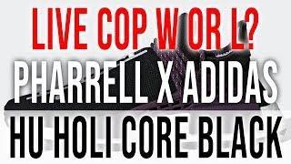 LIVE COP:  PHARRELL WILLIAMS X ADIDAS NMD HU HOLI CORE BLACK
