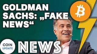 """Goldman Sachs: Meldung zum Bitcoin Handelsschalter """"Fake News""""   Coinbase Bitcoin ETF? - 07.09.2018"""