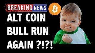 CRYPTO: ALTCOIN BULLRUN? CRYPTOCURRENCY,BITCOIN,LITECOIN,ETHEREUM,XRP RIPPLE,TRON TRX,BTC PRICE NEWS