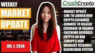 Weekly Update: Market Update / LINE & BITBOX / Binance Uganda / Facebook / Europe