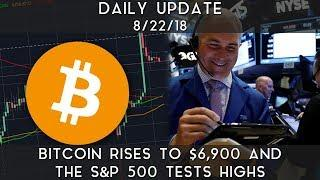 Daily Update (8/22/18) | Bitcoin bounces close to $6900 & the S&P test its highs