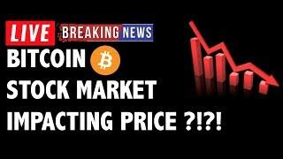 Stock Market Crash is Impacting Bitcoin (BTC)?! - Crypto Technical Analysis & Cryptocurrency News