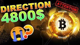 BITCOIN 4800$ CRASH !!!??? analyse technique crypto monnaie BTC