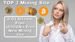 Earn 1 Bitcoin easily !! 1000GH/s Free !! Top 3 Could Mining Site !! without investment