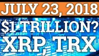 FIRST $1 TRILLION CRYPTO? TRON TRX SECRET PROJECT? RIPPLE XRP NEWS! BITCOIN CRYPTOCURRENCY PRICE!
