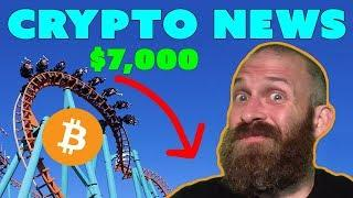 Bitcoin Falls Under $7K | YAHOO! Sells Crypto | $ADA $ZEC $BAT News