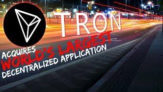 TRON Acquires World's LARGEST Decentralized Application - Today's Crypto News