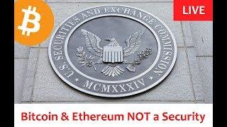 LIVE: Bitcoin & Ethereum Not a Security [Daily Bitcoin and Cryptocurrency News] - 6/14/2018