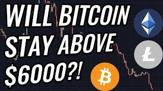 Bitcoin & Crypto Markets Suffer Another Drop! Will $6,000 Hold Again?! BTC, ETH, BCH, & LTC News!