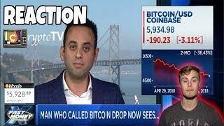 The man who called the bitcoin drop now sees...REACTION