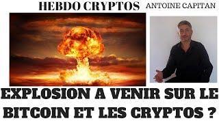 Baisse de la volatilité sur le marché des cryptos et du BITCOIN, explosion à venir ?