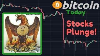 Bitcoin & Stocks Falling! | Stock Market CRASH Continues With AMAZON Down 18%