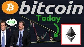 BTC Ready To Move? | Ethereum Is FALLING, Two Support Lines I'm Watching! | Winklevoss News