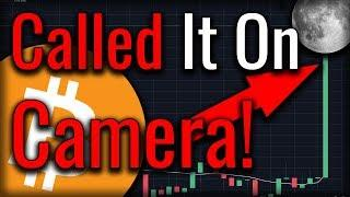 I Called A Bitcoin Breakout - Then It Happened LIVE! (#CalledIt)