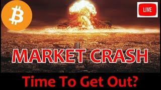 LIVE:  CRYPTO MARKET CRASH - TIME TO CASH OUT?  [Daily Bitcoin and Cryptocurrency News]