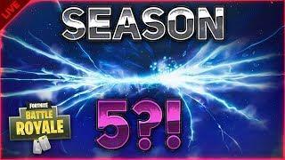 IS THIS HOW SEASON 5 WILL START?! - Fortnite: Battle Royale LIVESTREAM