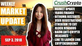 Weekly Update: Market Update / Yahoo Finance / Bithumb / Ethereum / Baidu / LINE