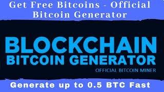 Get Free Bitcoins - Official Bitcoin Generator