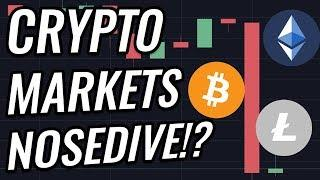 Huge Drop For Bitcoin & Crypto Markets! Will $6,000 Hold?! BTC, ETH, BCH, LTC & Cryptocurrency News!