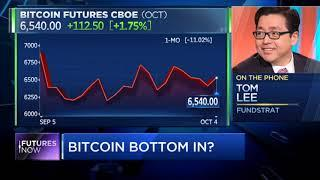 CNBC Future's Now | Wall Street is calling a bottom in bitcoin Fundstrat's Tom Lee says