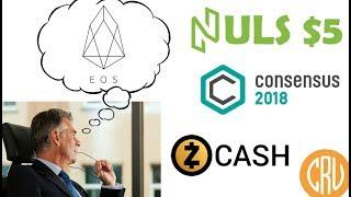 Consensus 2018 – Banking Executives Leaving for Cryptos – NULS above $5