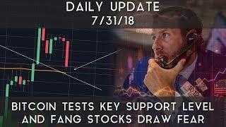 Daily Update (7/31/18) | Bitcoin tests line of support & FANG stocks sell-off