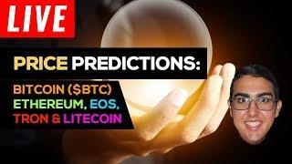 Price Predictions: Bitcoin ($BTC), Ethereum ($ETH), EOS ($EOS), Tron ($TRX) & Litecoin ($LTC)
