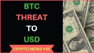Bitcoin Threat to USD in future, BTC Wallet without Internet, South Korea FUD - Crypto News #45