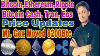 Bitcoin,Ethereum, Ripple, Tron, Eos Price Updates | mt.Gox Move BTC | Being India