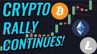 Bitcoin Bull Flag Confirmed As Crypto Markets Rally! BTC, ETH, BCH, LTC & Cryptocurrency News!