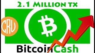 Bitcoin Cash Processes 2.1 Million Transactions - Daily Bitcoin and Cryptocurrency News