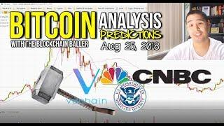Bitcoin Analysis Predictions Aug 25,  2018 - Vechain Thor, ETF, CNBC, US Customs