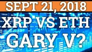 RIPPLE XRP VS ETHEREUM BATTLE FOR #2! GARY VAYNERCHUK TALKS CRYPTOCURRENCY! BITCOIN PRICE, NEWS 2018